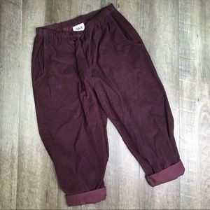 FLAX Mulberry High Rise Culottes Size Large